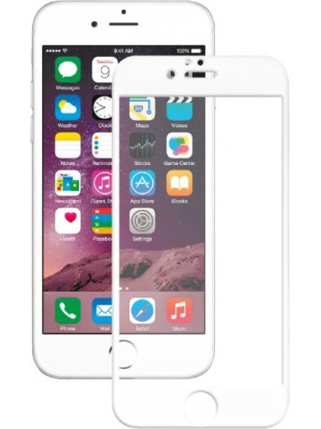 Закаленное стекло для iPhone 7 2D белая рамка