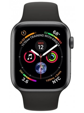 Apple Watch Series 4 GPS 44mm Aluminum Case with Sport Band Black