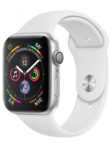 Apple Watch Series 4 GPS 44mm Aluminum Case with Sport Band White